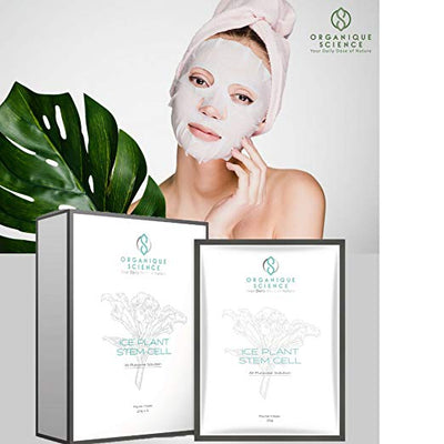 Ice Plant Stem Cell Facial Sheet Masks 6-Boxes - Organique Science