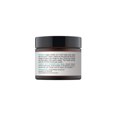 Detoxifying Charcoal Face Mask with 3 Earth Clay and Activated Charcoal - Organique Science