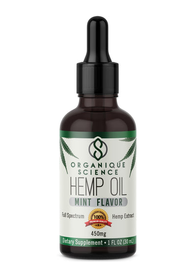 Full Spectrum Hemp Oil Drops - Organique Science