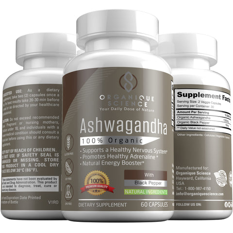 Image of Organic Ashwagandha - Organique Science
