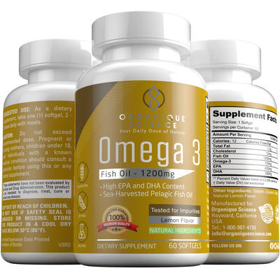 Omega 3 Fish Oil - Organique Science
