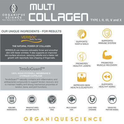 Multi-Collagen with Keratin | Your Collagen On-The-Go in Capsules - Organique Science