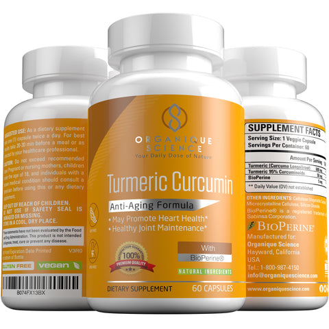 Image of Turmeric Curcumin with BioPerine - Organique Science