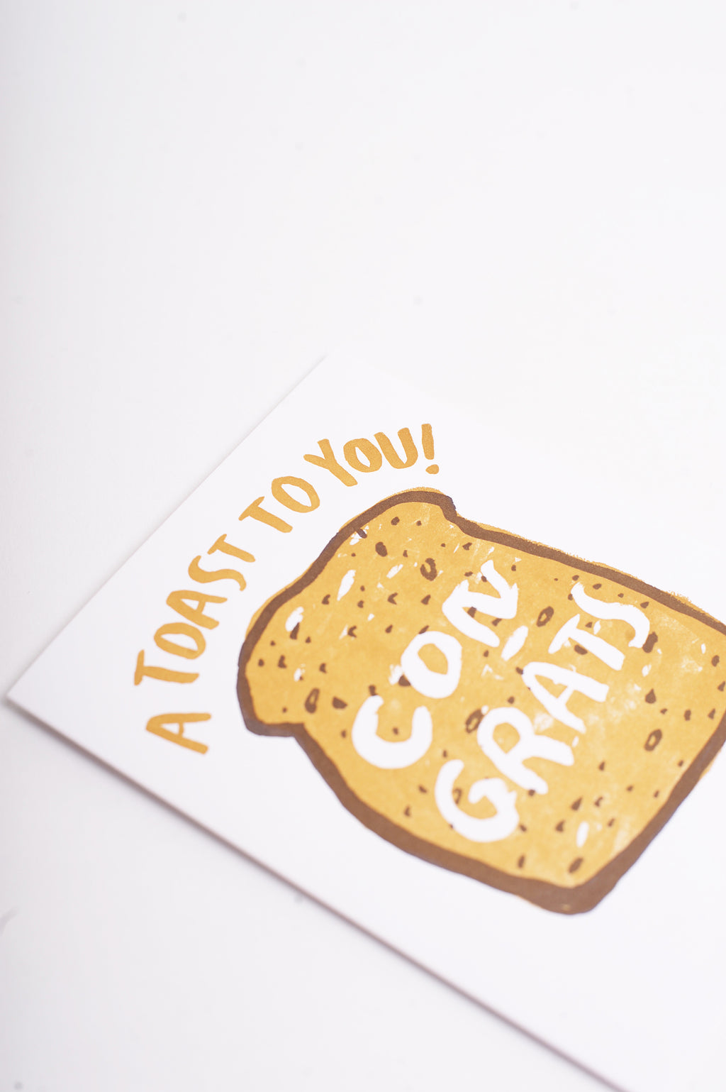Literal Toast Congrats Card