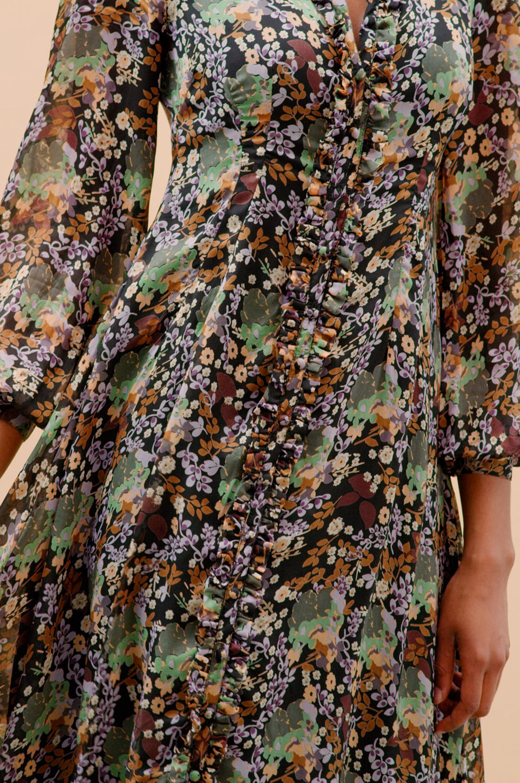 Button-Down Dress in Camouflage