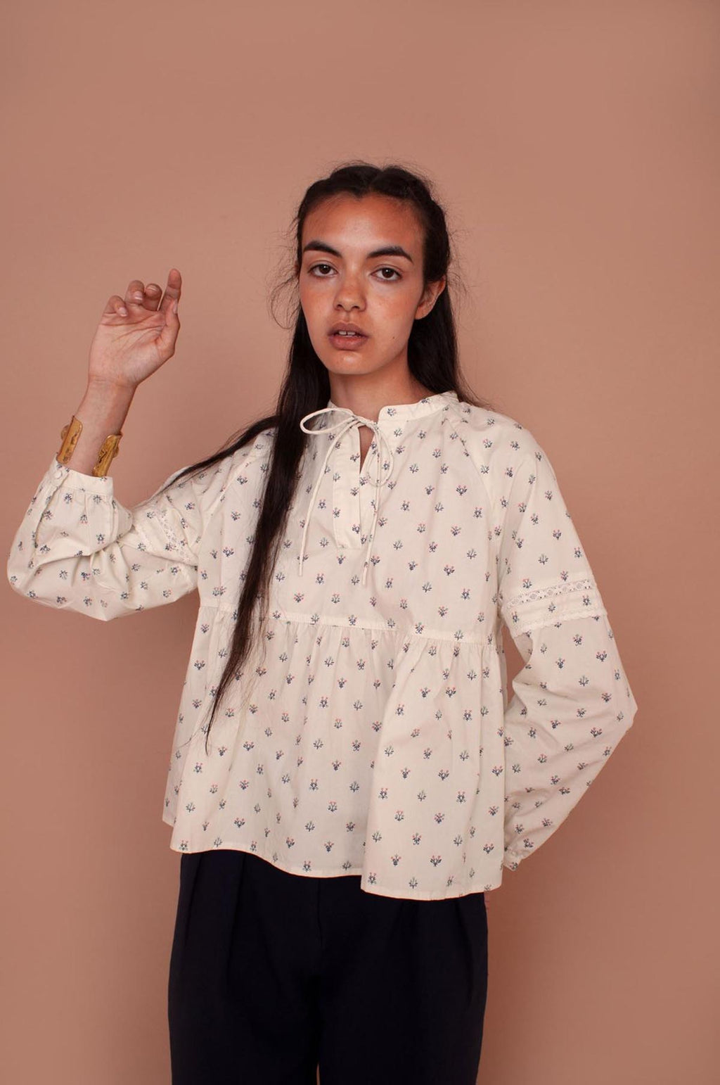 Abelia Shirt in Winter Ditsy
