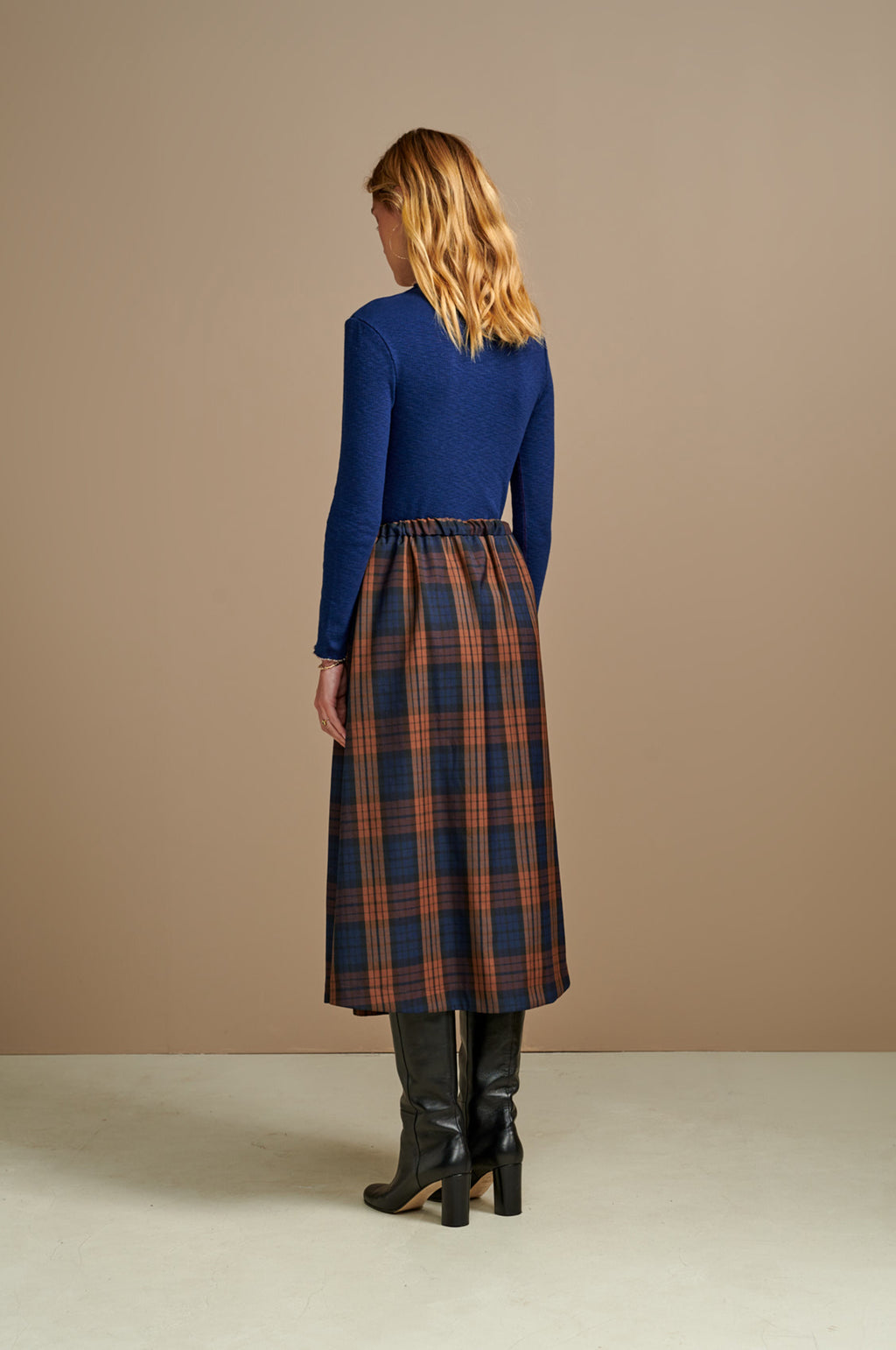 Adams Skirt in Check A