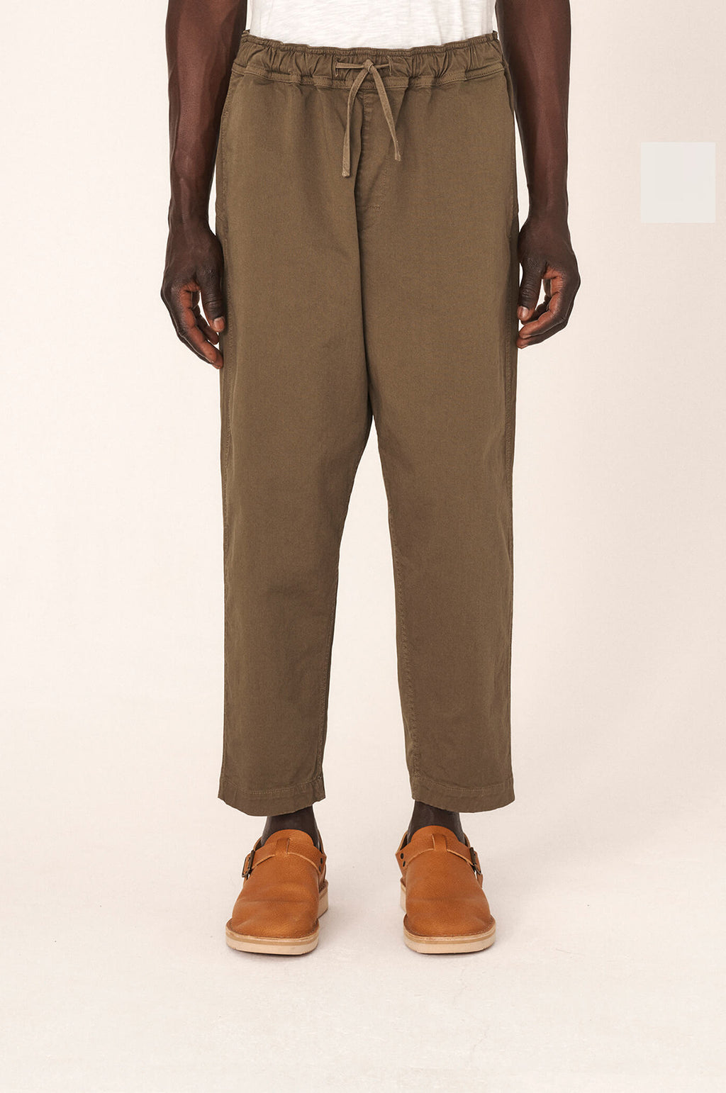 Alva Cotton Twill Skate Trousers in Olive