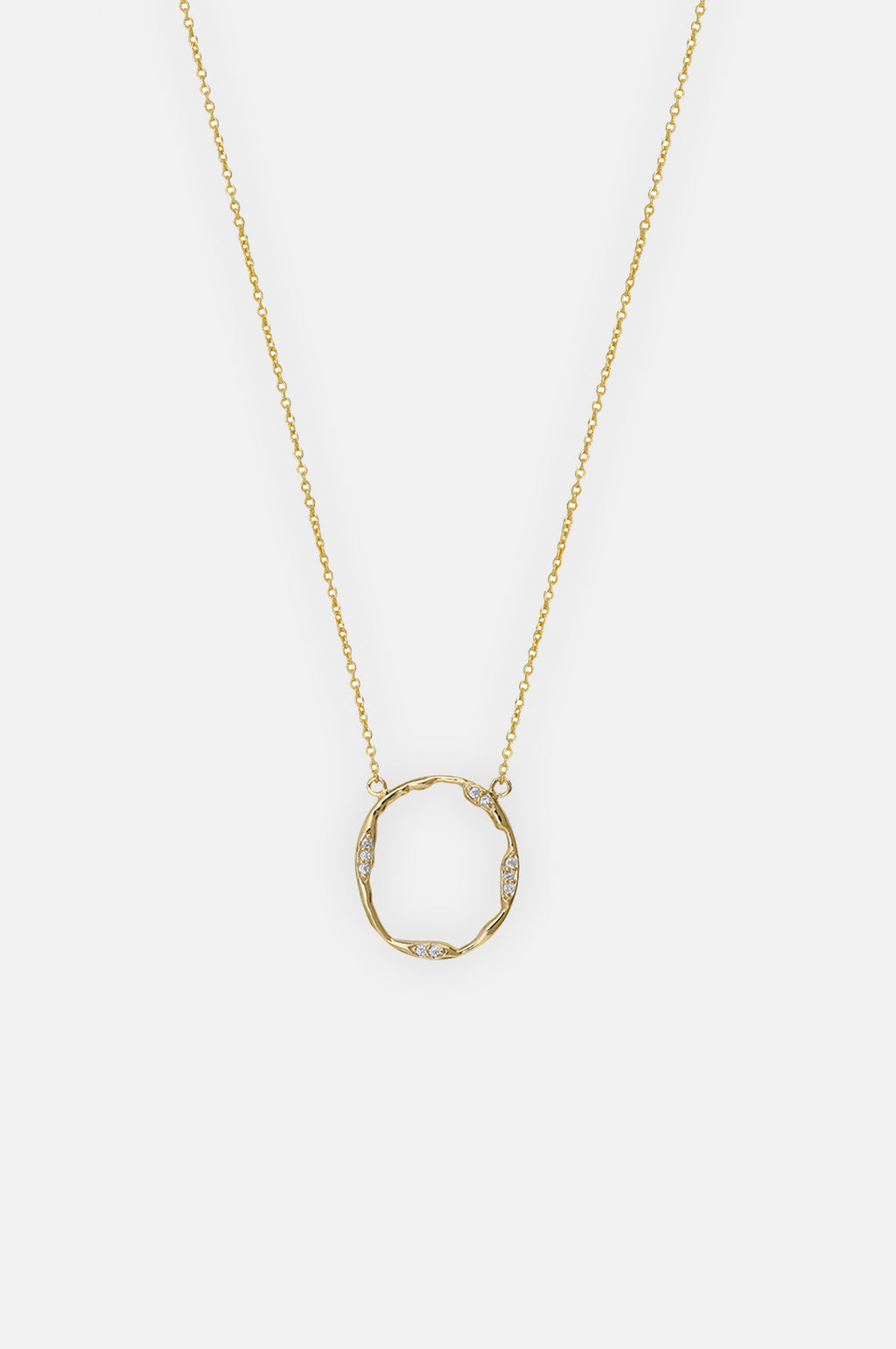 Anya Sparkle Circle Gold Necklace