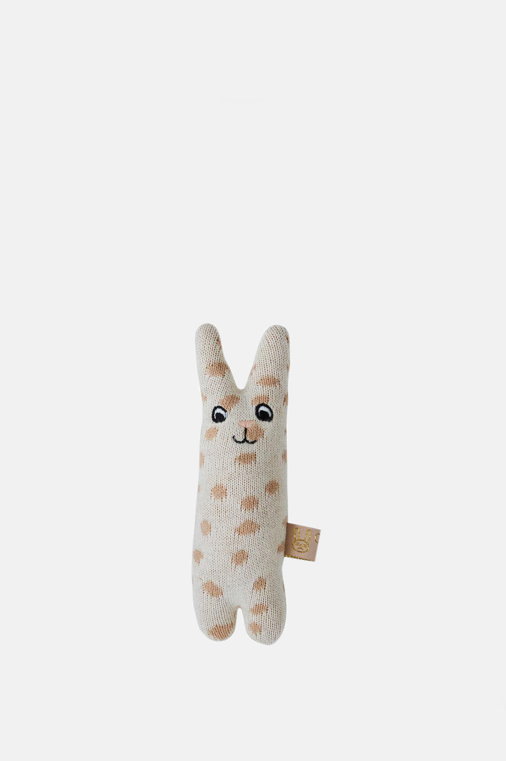 Baby Rabbit Rattle in Nude