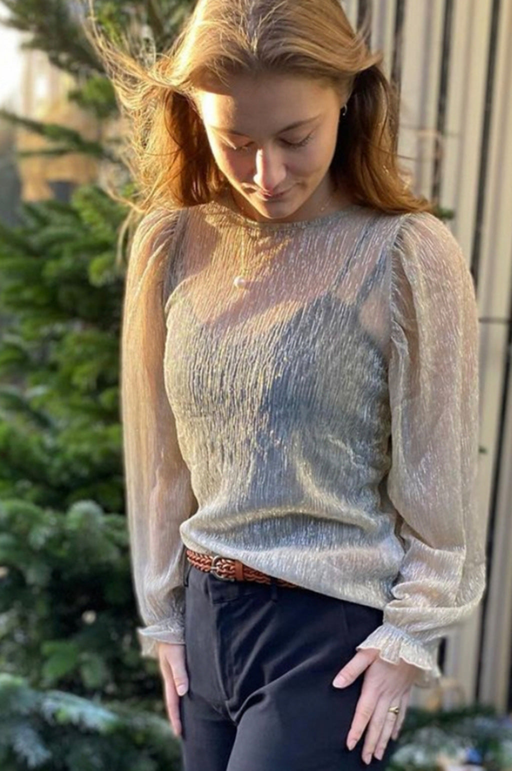 Barley Blouse in Silver