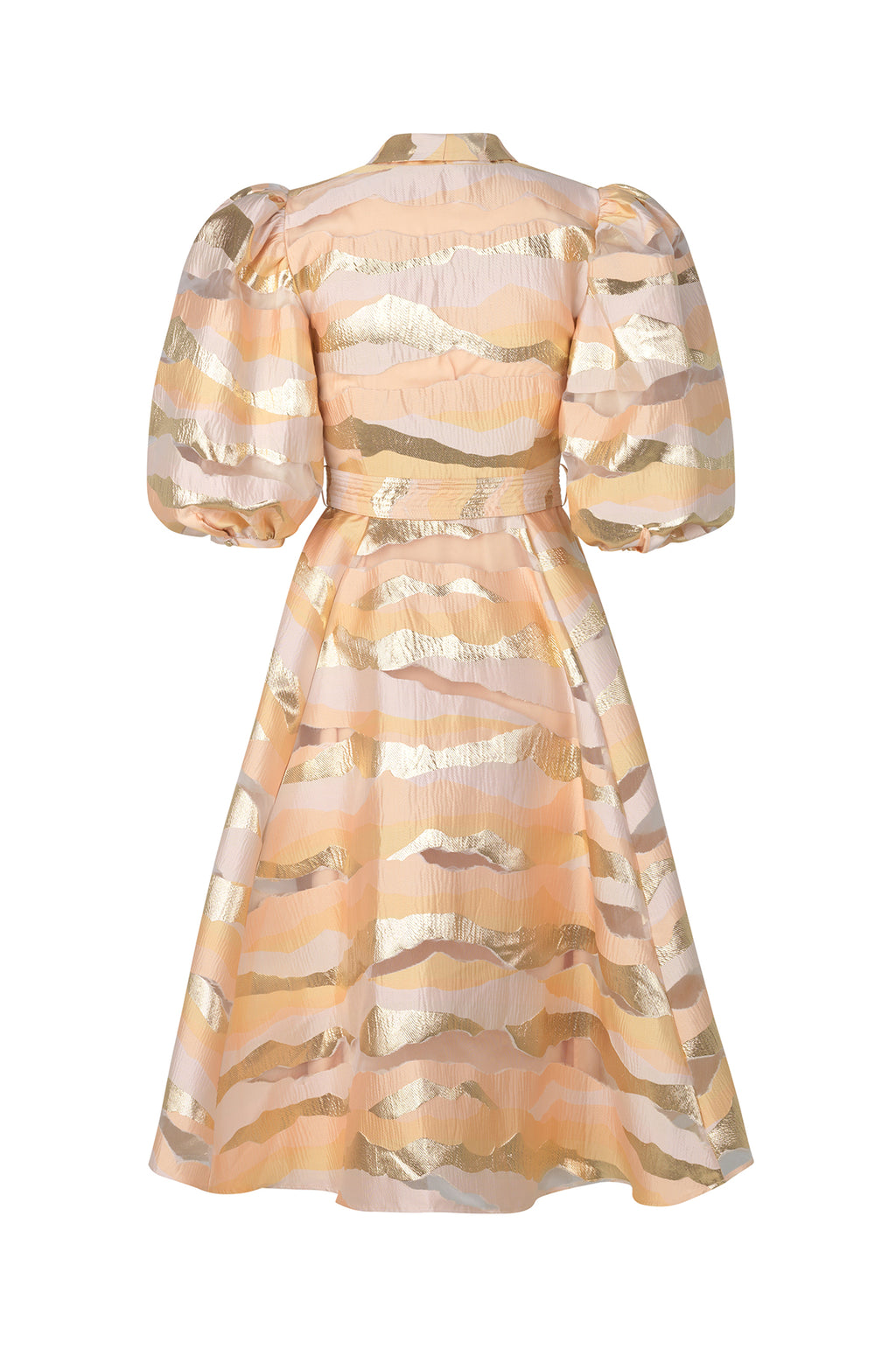 Belinda Dress in Horizon Gold