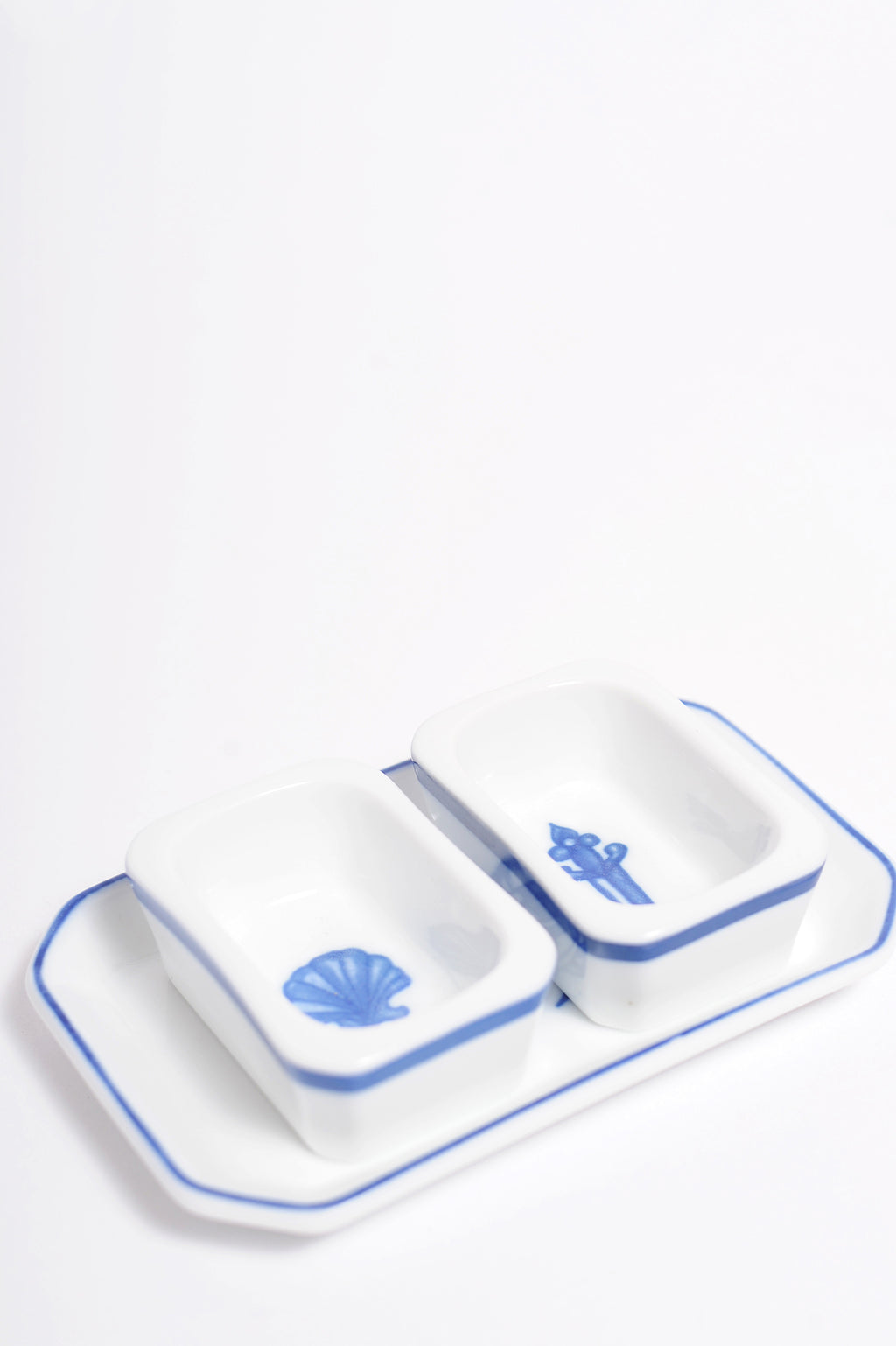 Salt And Pepper Set With Cross Plate