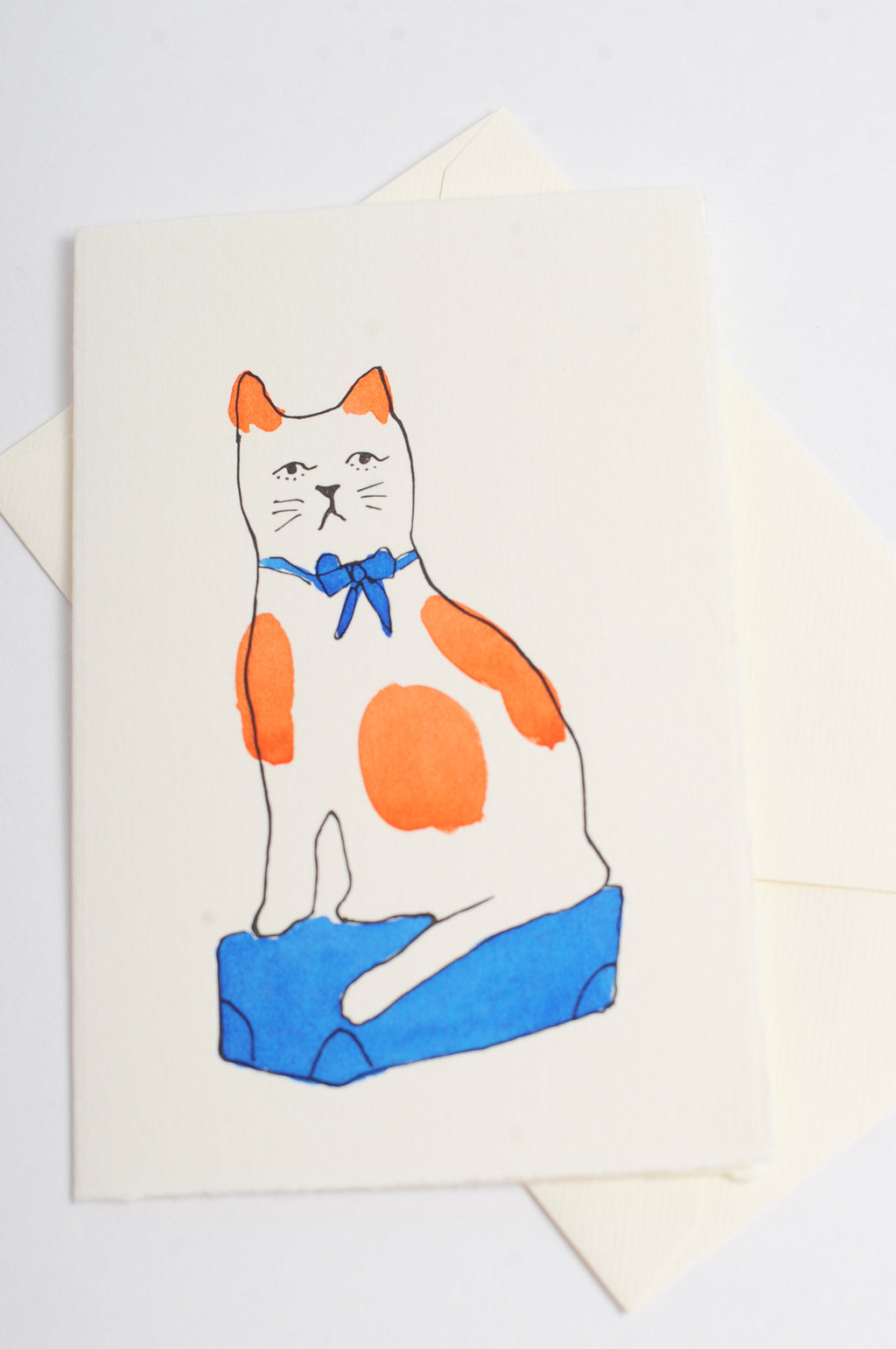 Cat Card in Blue
