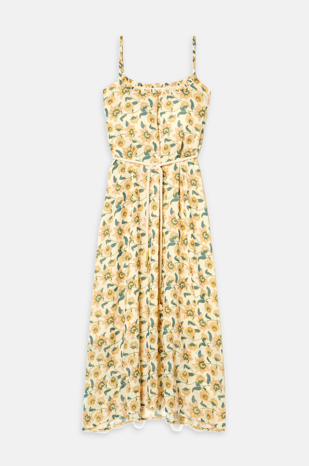 Chamane Dress Cream Flowers