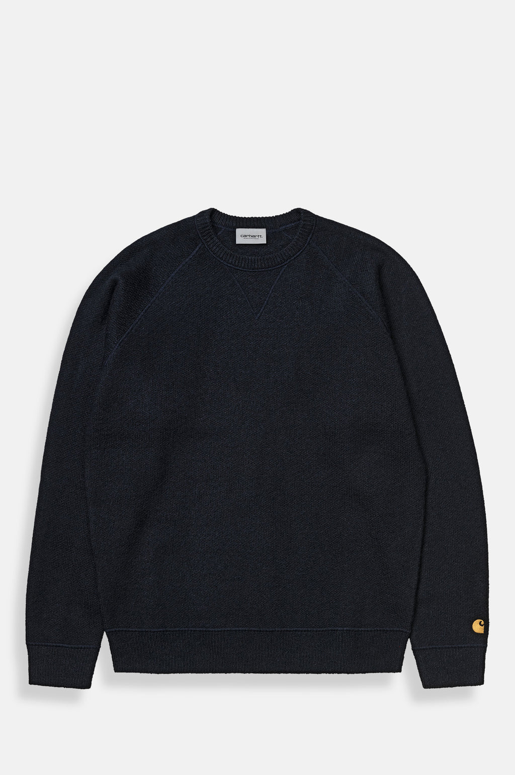 Chase Sweater Knit in Dark Navy and Gold
