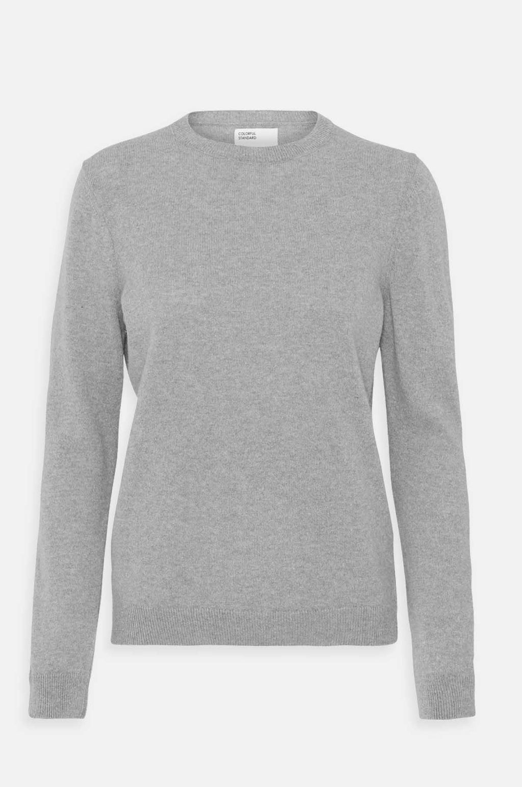 Women`s Classic Merino Crew Jumper in Heather Grey
