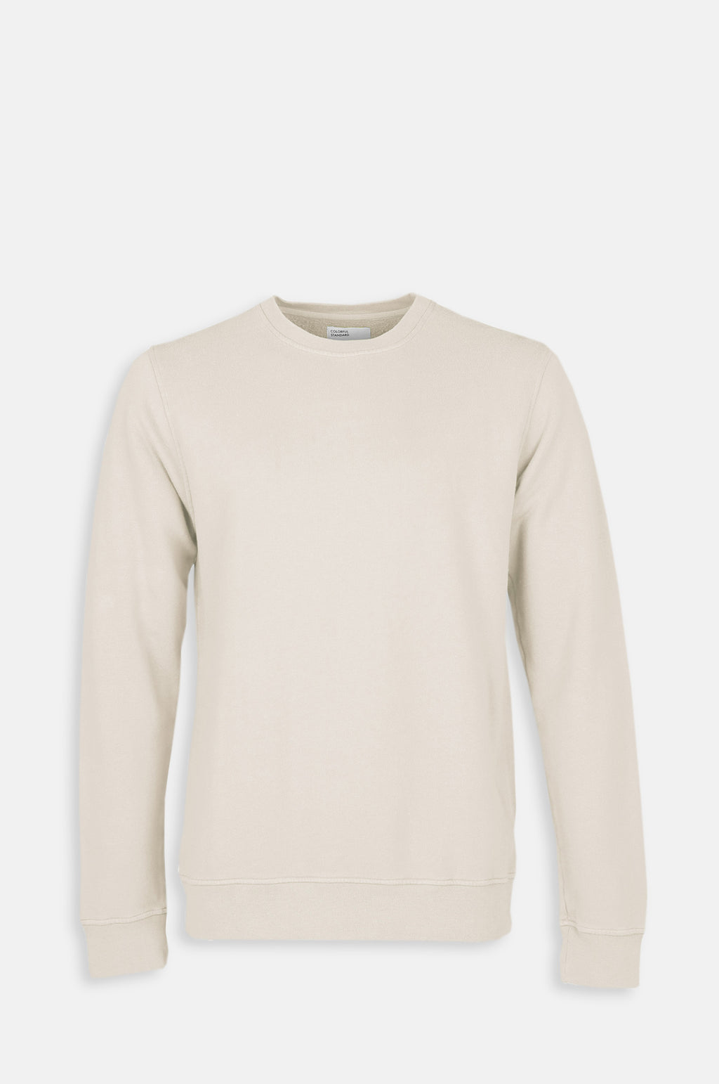 Men`s Classic Organic Crew Sweatshirt in Ivory White