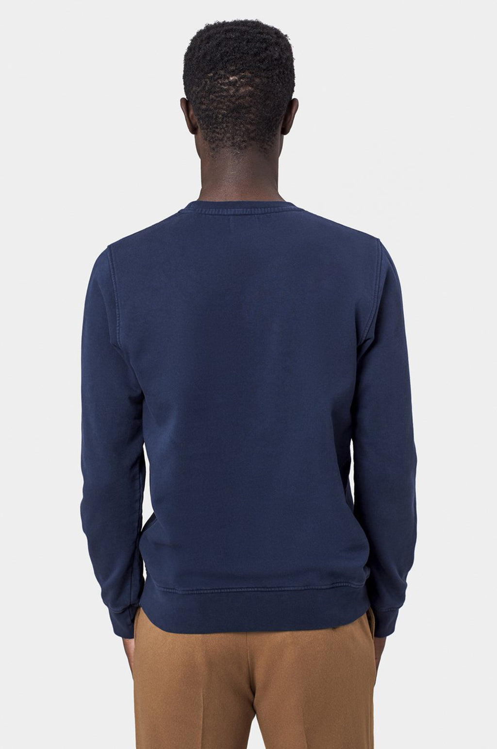 Classic Organic Crew Sweatshirt in Navy Blue