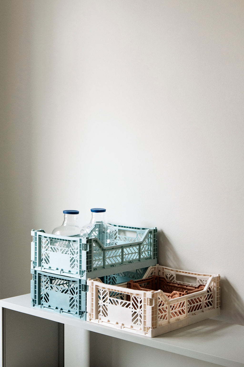 Medium Coloured Crate in Teal