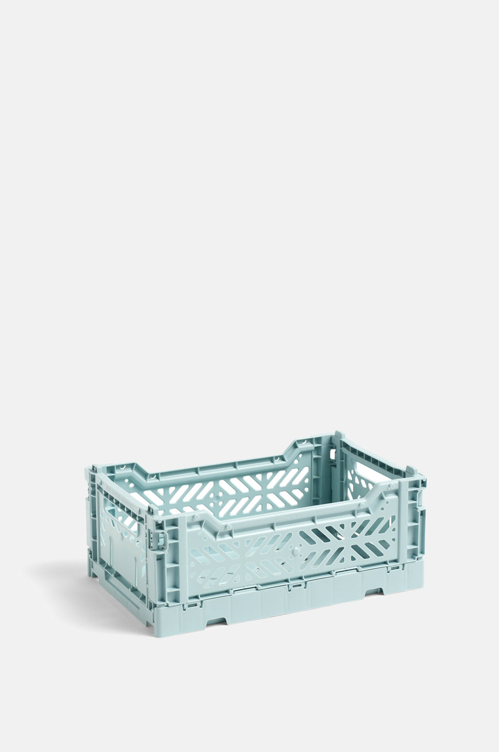 Small Coloured Crate in Arctic Blue