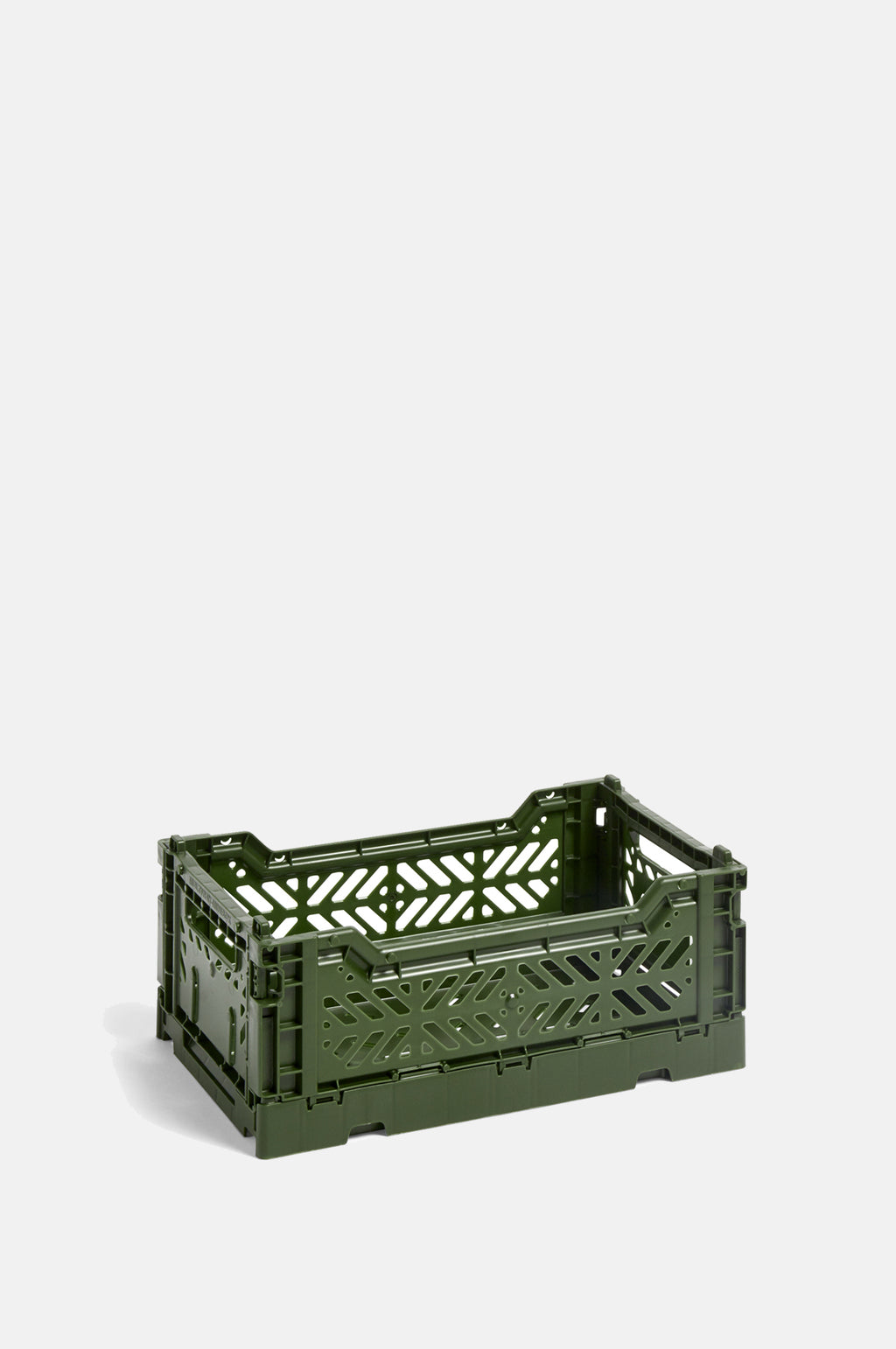 Small Coloured Crate in Khaki