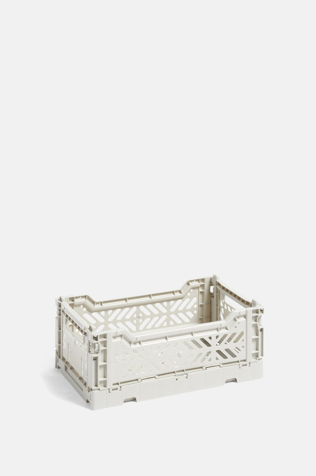 Small Coloured Crate in Light Grey