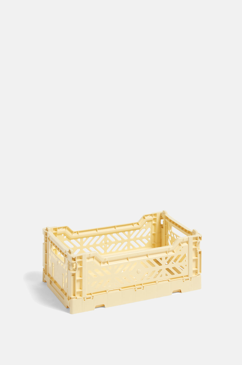 Small Coloured Crate in Light Yellow