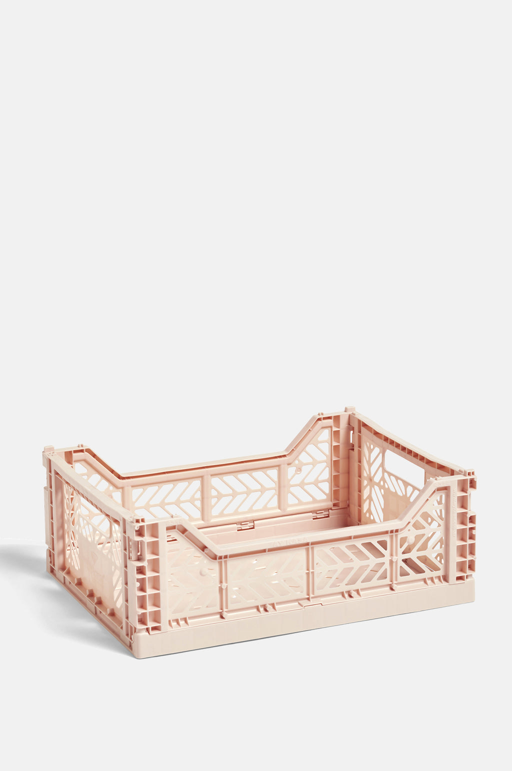 Medium Coloured Crate in Soft Pink