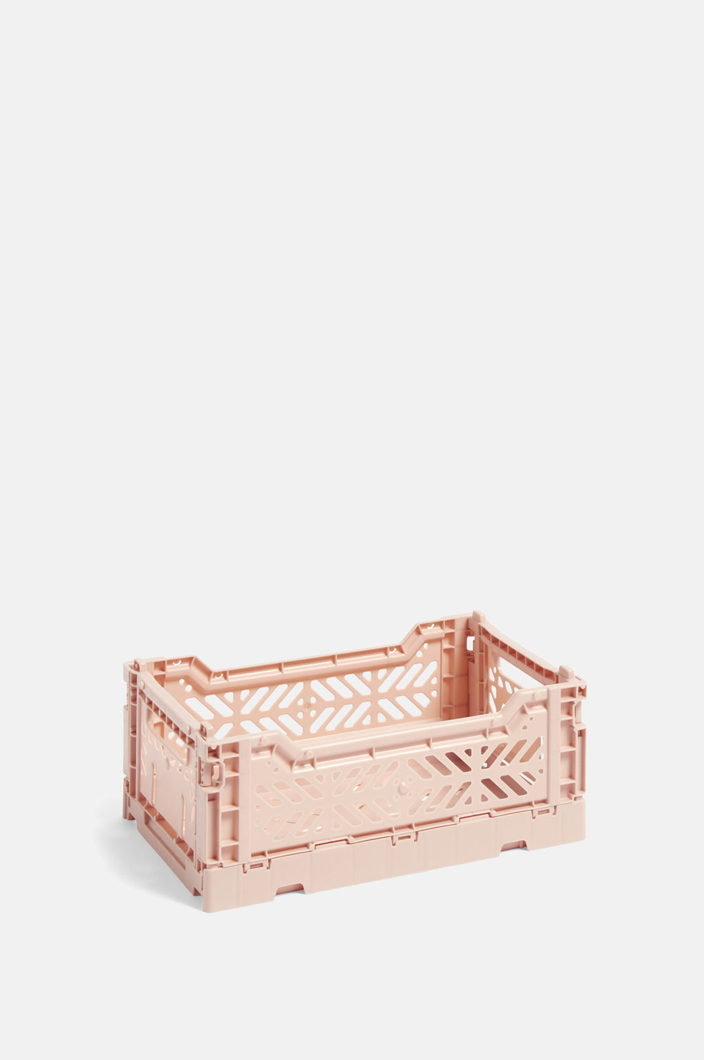 Small Coloured Crate in Soft Pink
