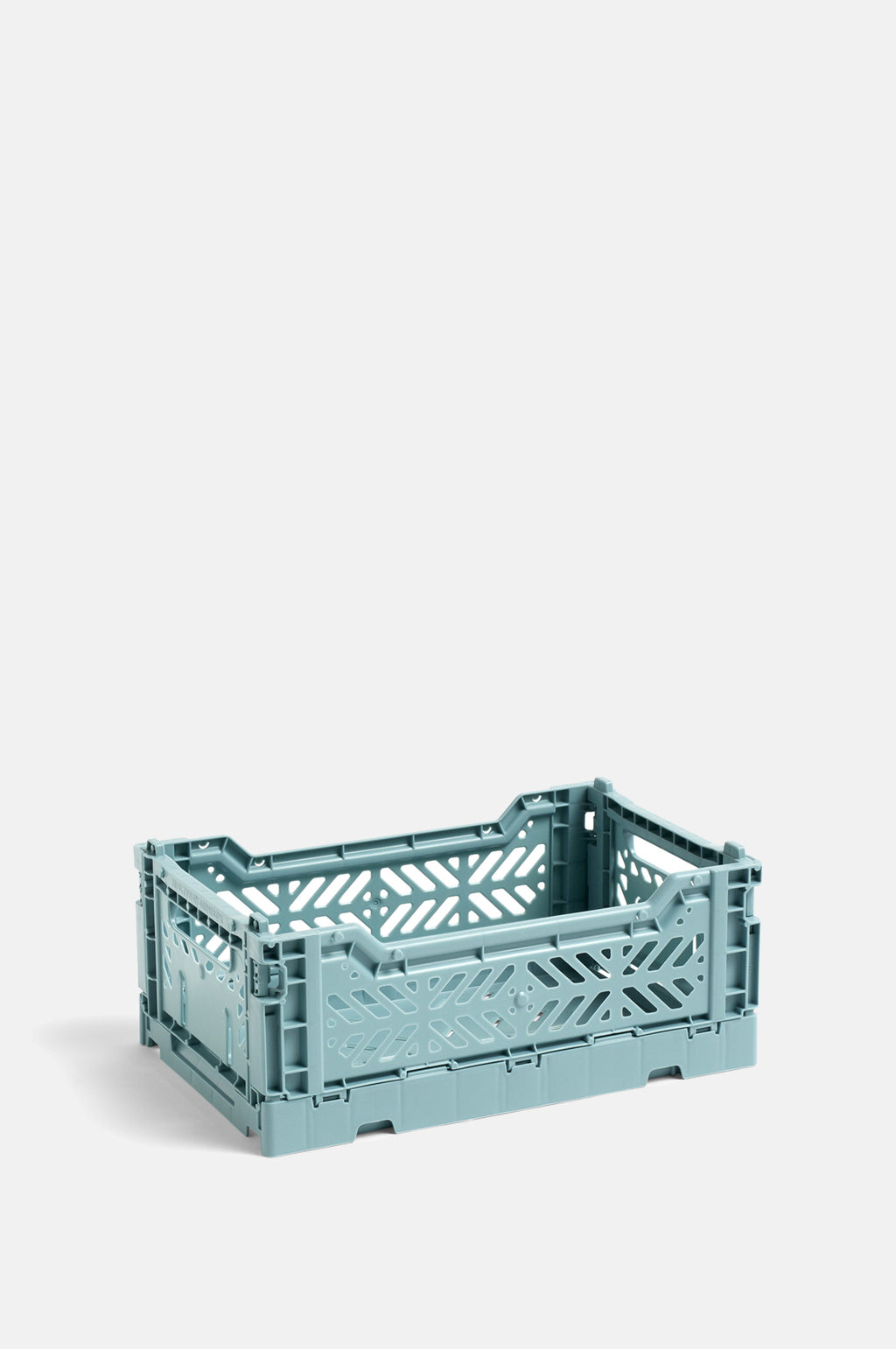 Small Coloured Crate in Teal