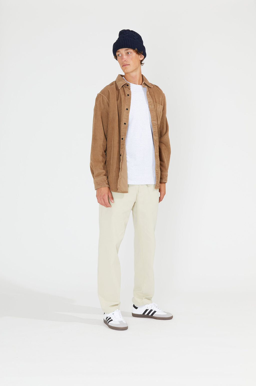 Corduroy Button Down Shirt in Brown