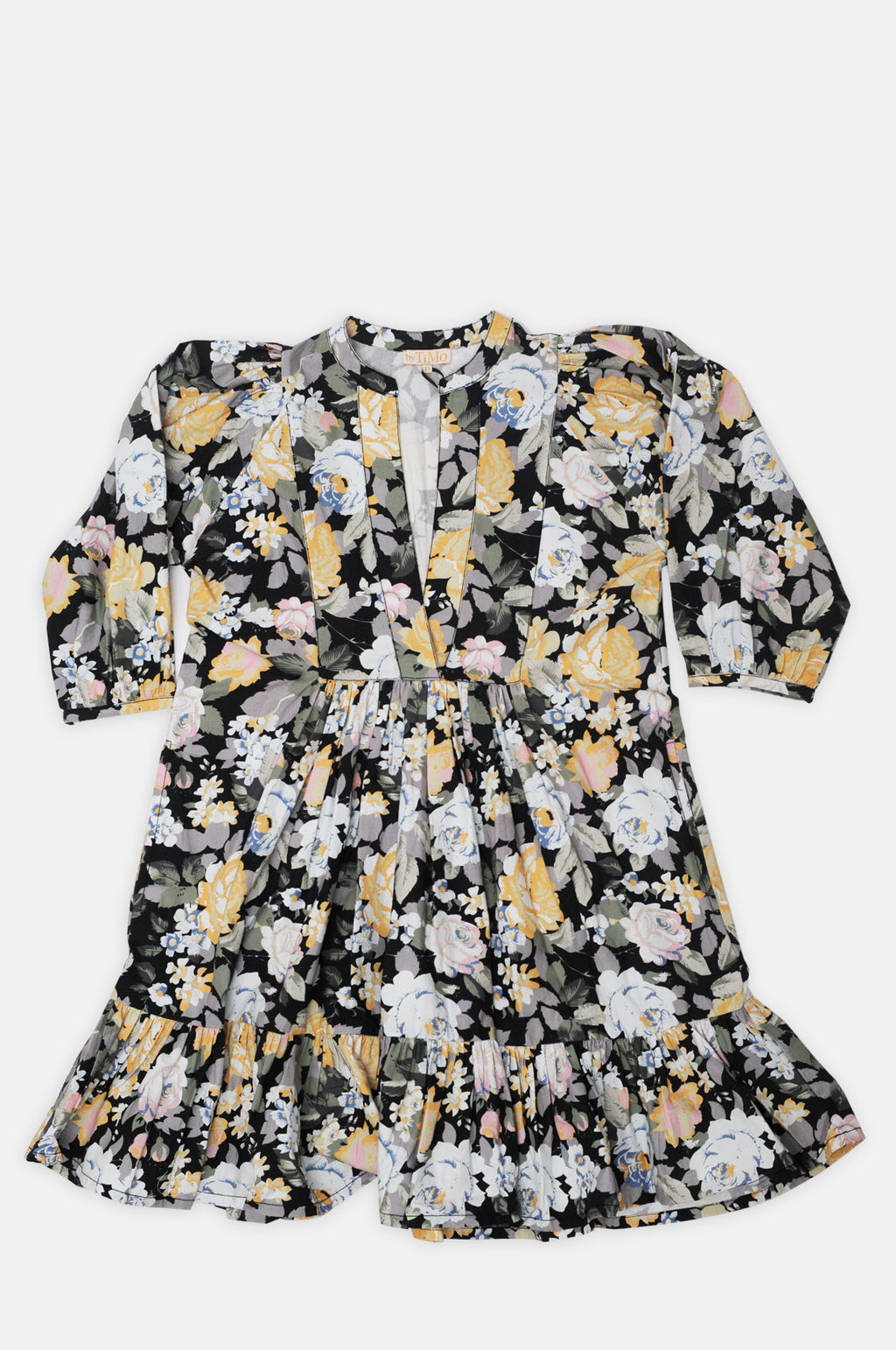 Cotton Shift Dress in Blooming