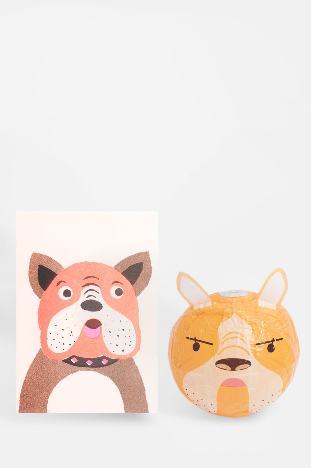 Dog Paper Balloon Card
