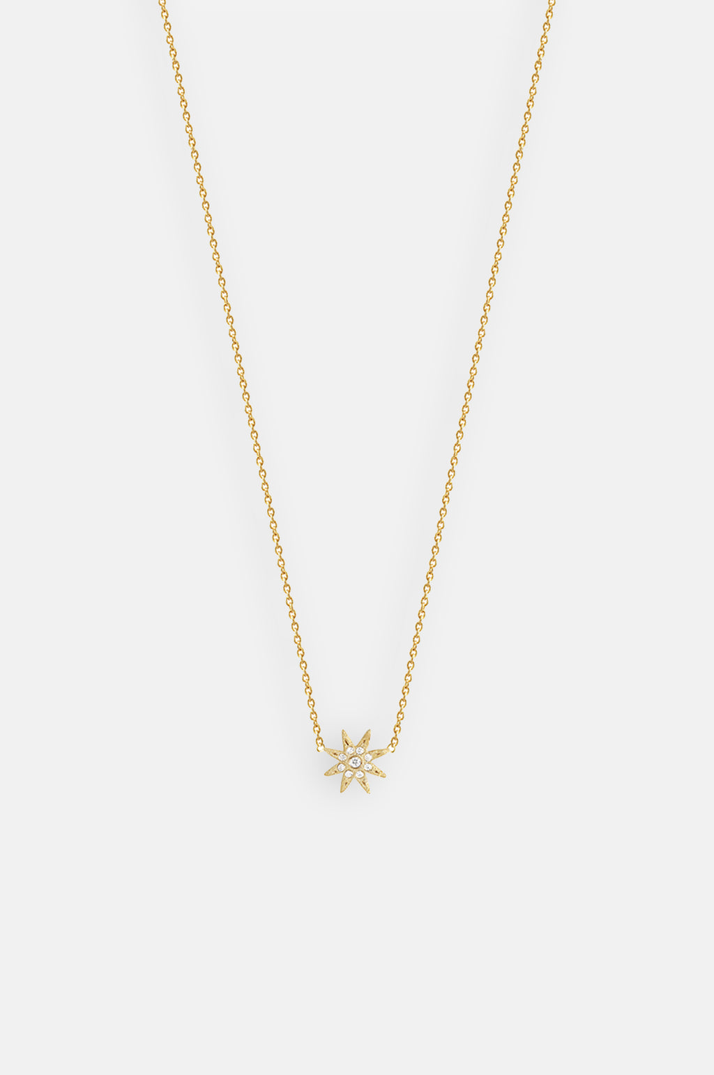 Electra Sparkle Star Shape Gold Necklace