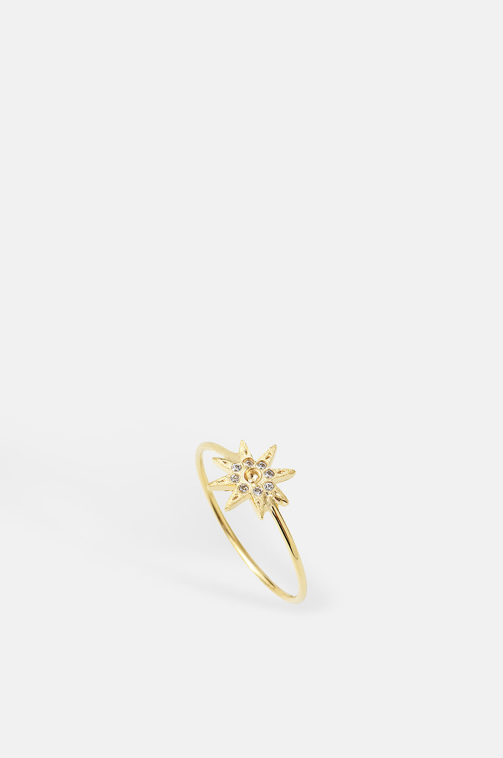 Electra Sparkle Star Shape Gold Ring
