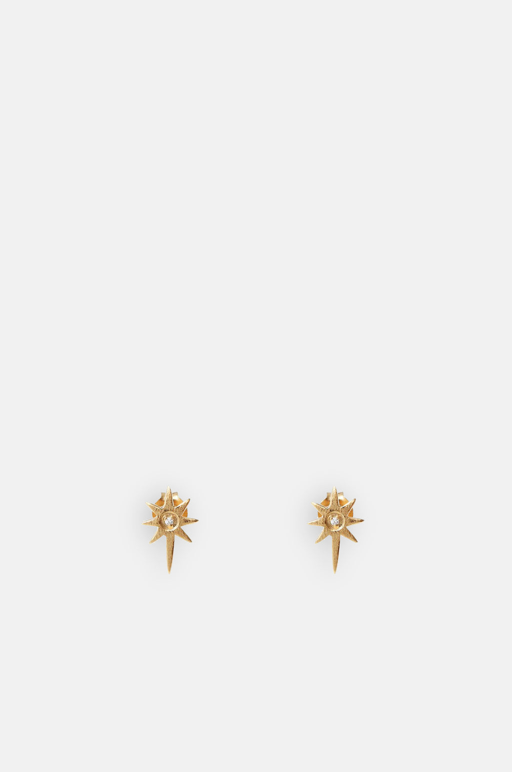 Elisa Sparkle North Star Gold Stud Earrings