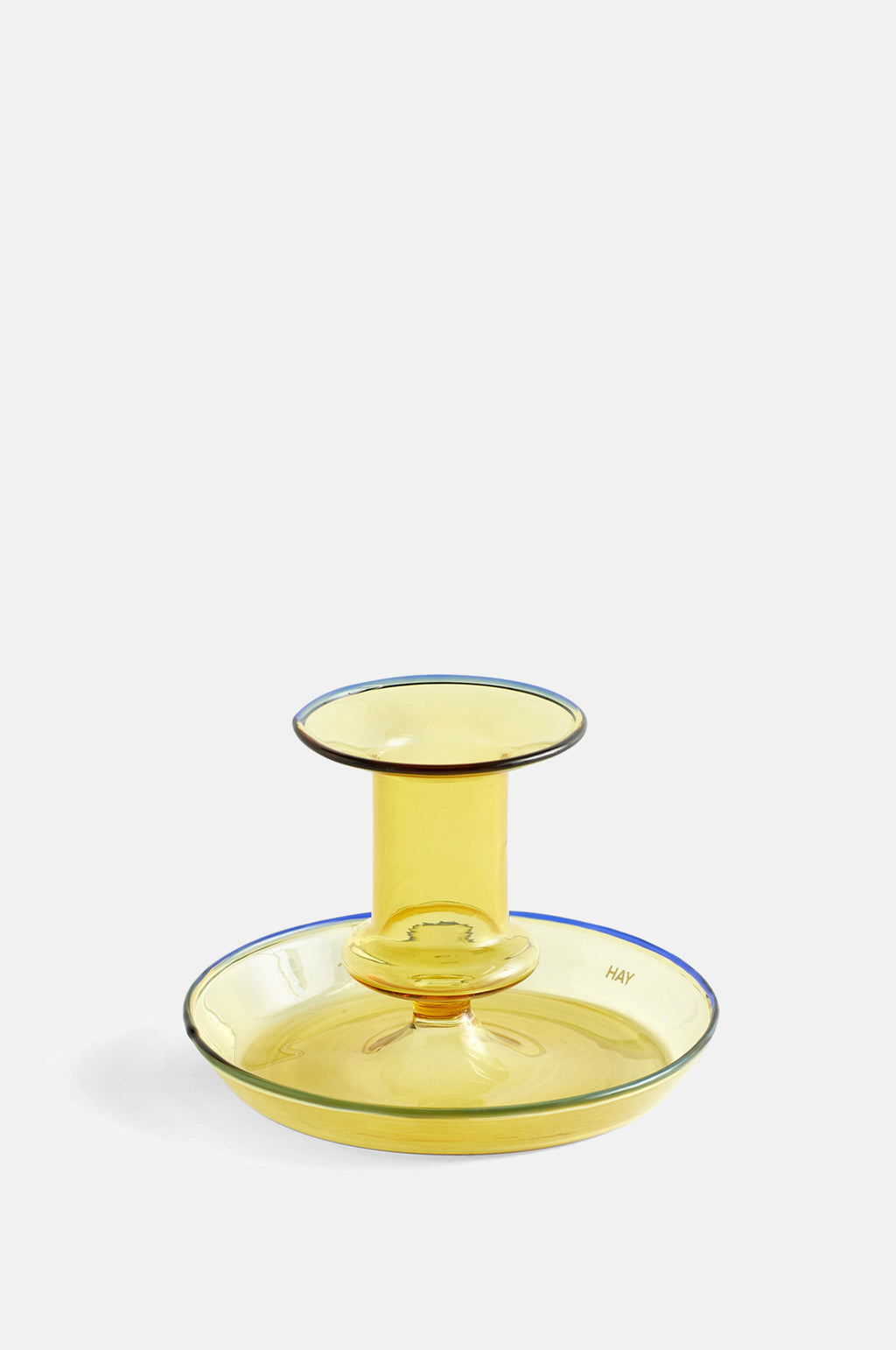 Flare Candle Holder in Yellow