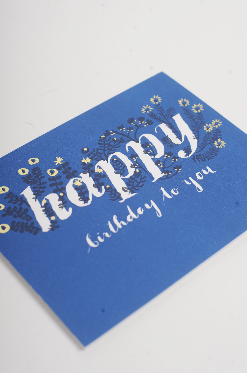 Foil Wildflower Birthday Card