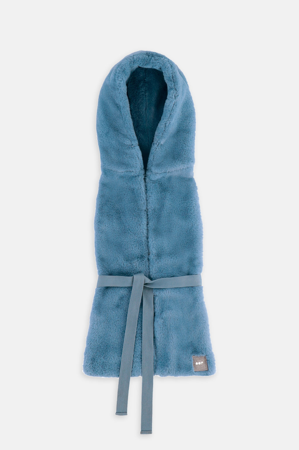 Fur Hood in Blue
