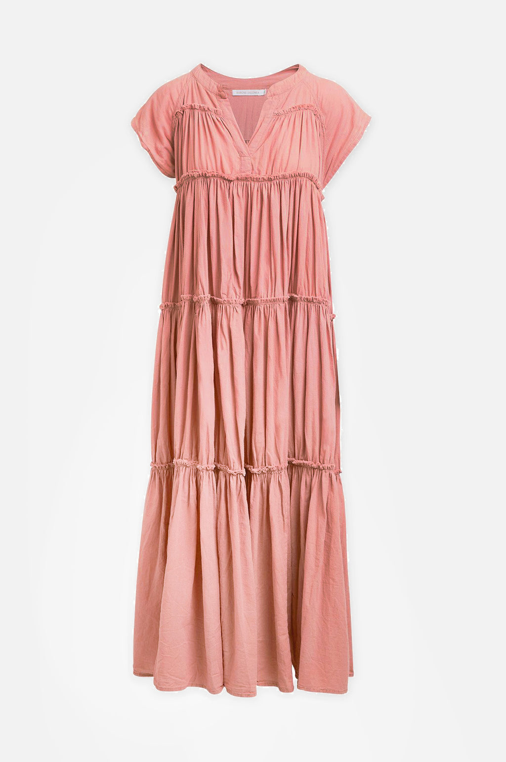 Gisele Cotton Flare Dress Coral