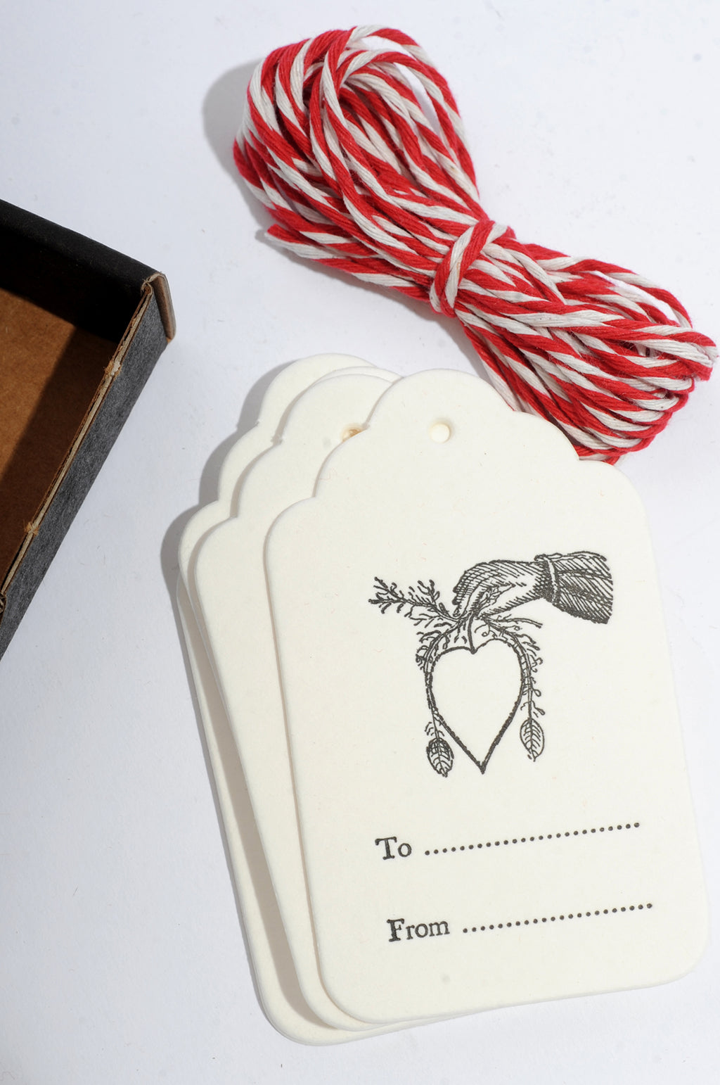 Hand and Heart Tag Set