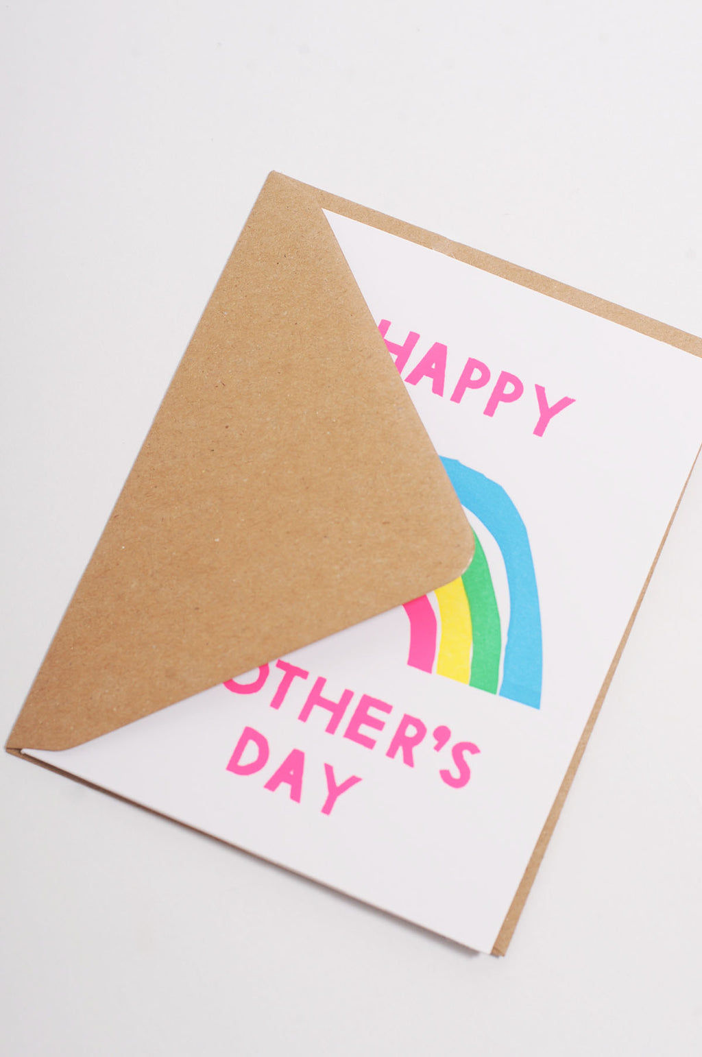 Happy Mothers Day Rainbow Card