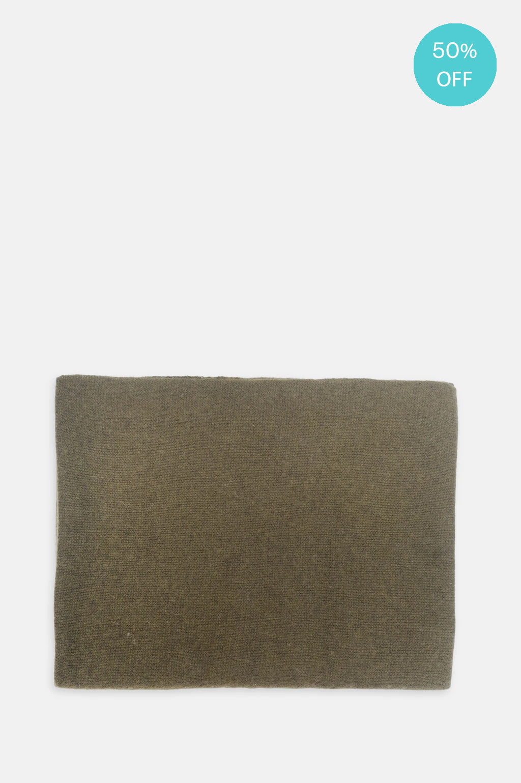 Cashmere Scarf in Army Brown