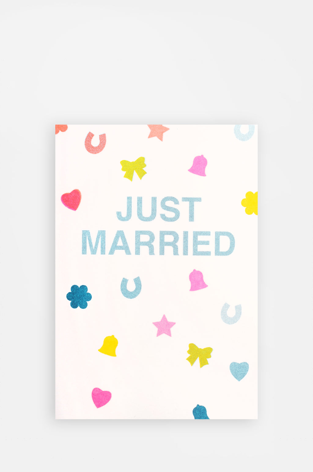 Just Married Confetti Riso Shapes Card