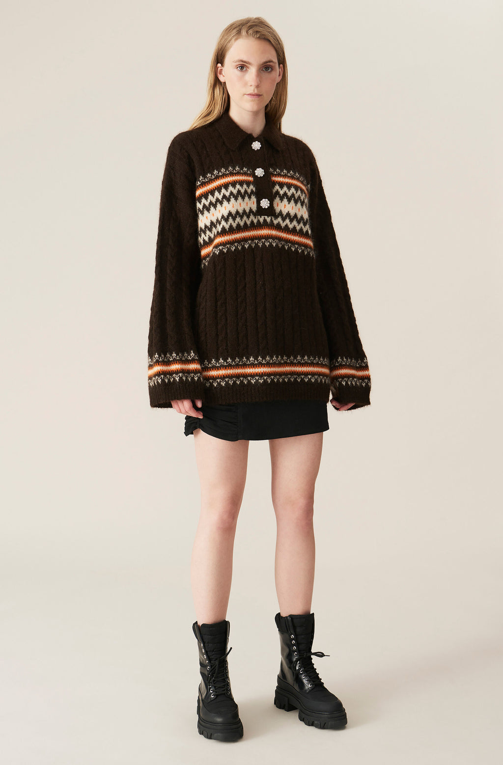Oversized Blouse/Jumper in Alpaca Mole