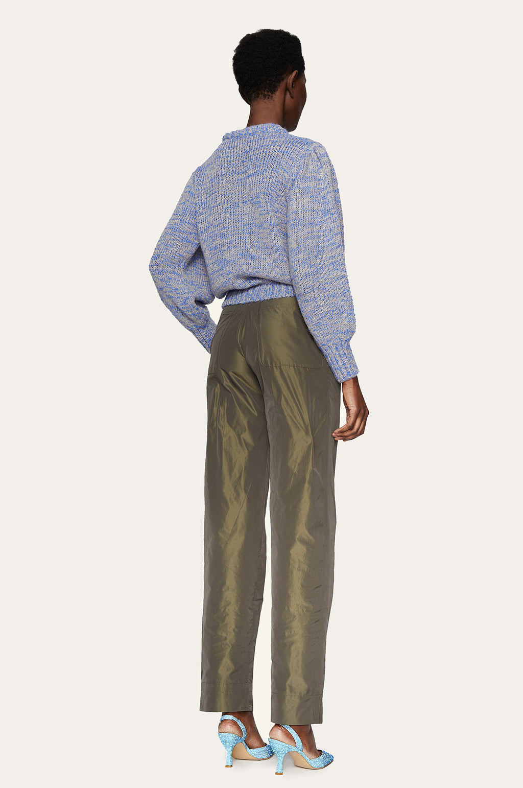 Laia Pants in Seaweed Green