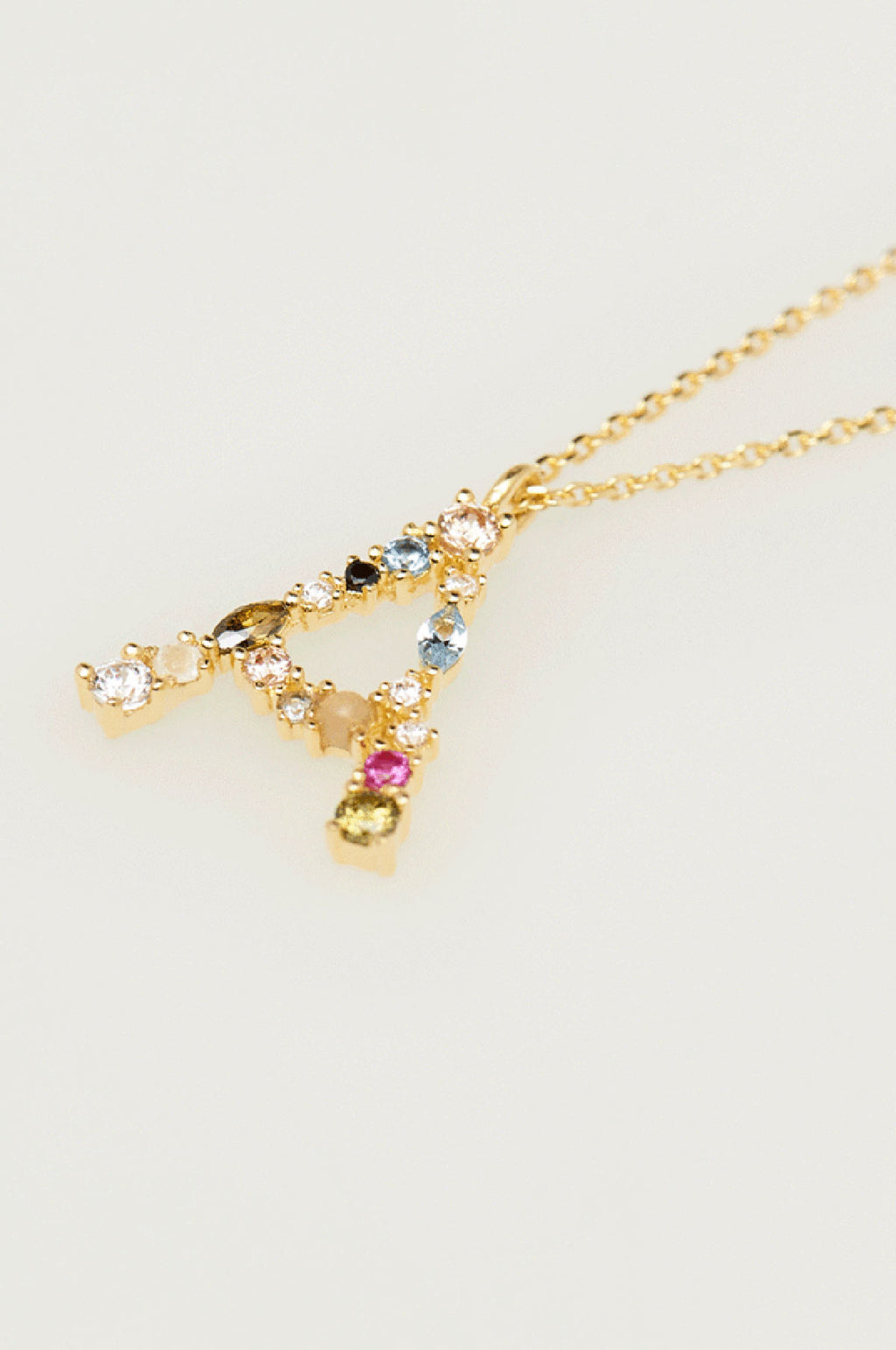 Letter A Gold Necklace