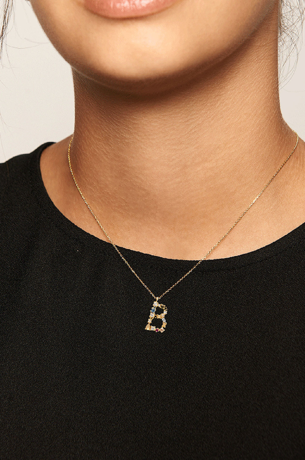 Letter B Gold Necklace