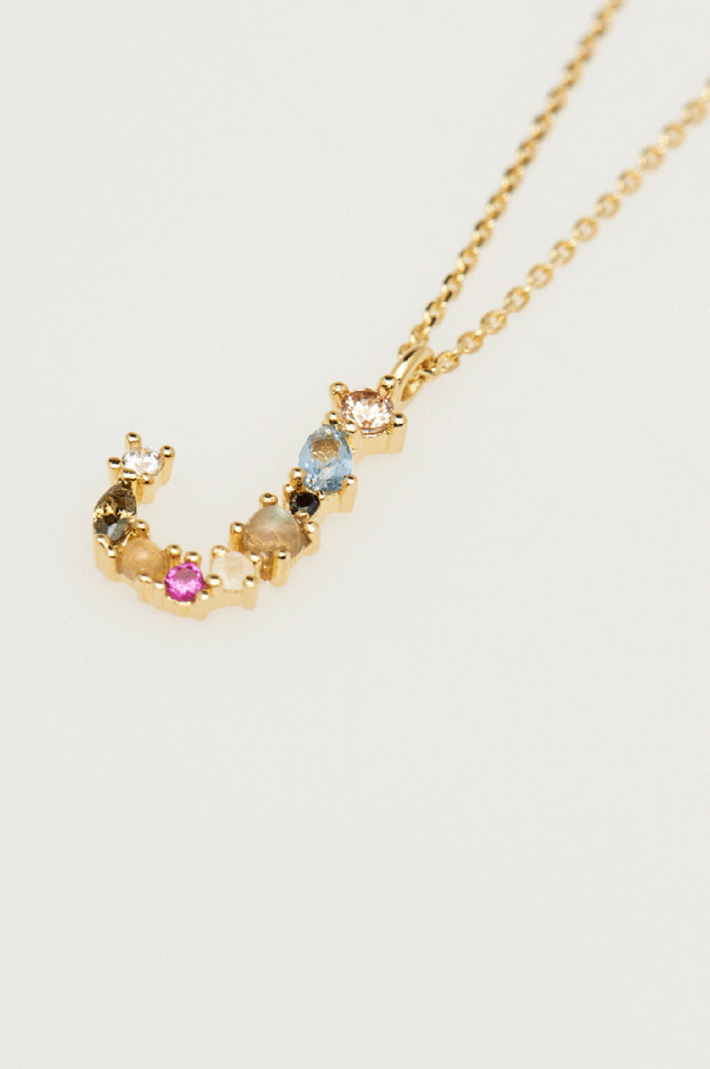 Letter J Gold Necklace